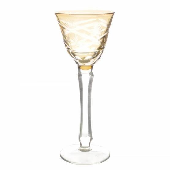 Taça de Cristal Coloridas Para Licor ll -  Âmbar