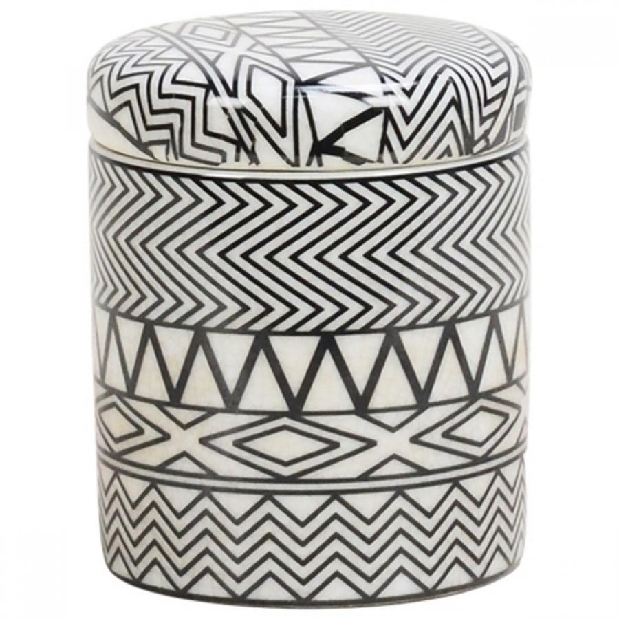 Pote de Cerâmica Branco 9x11cm