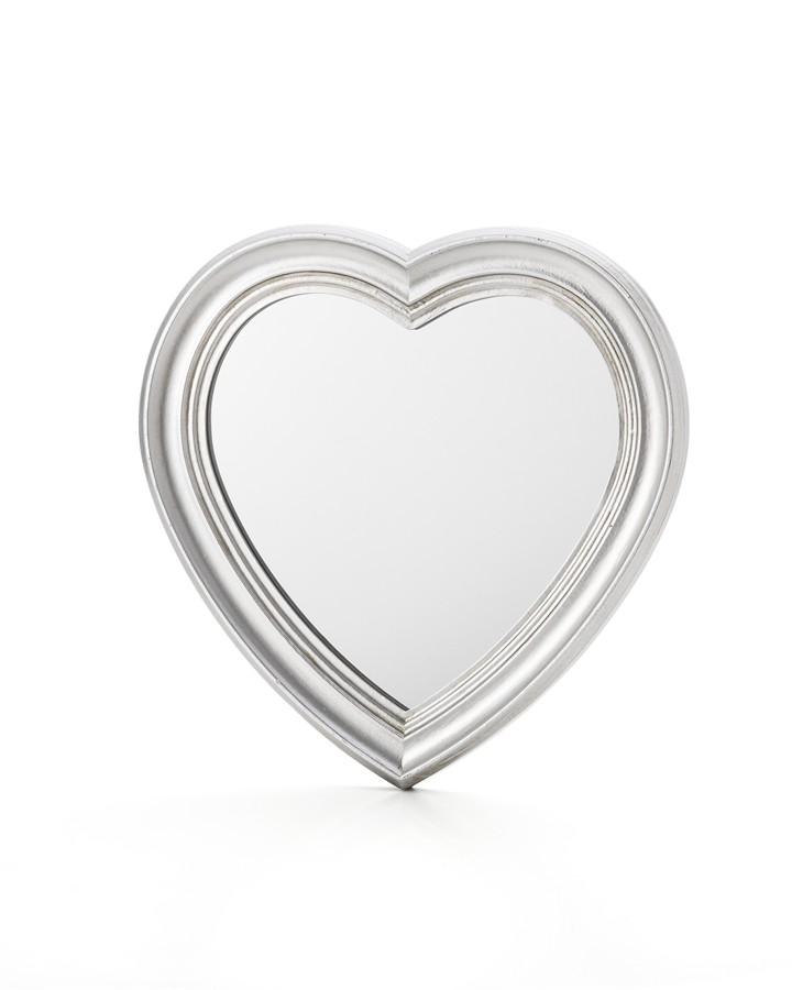 Espelho Coração Prata