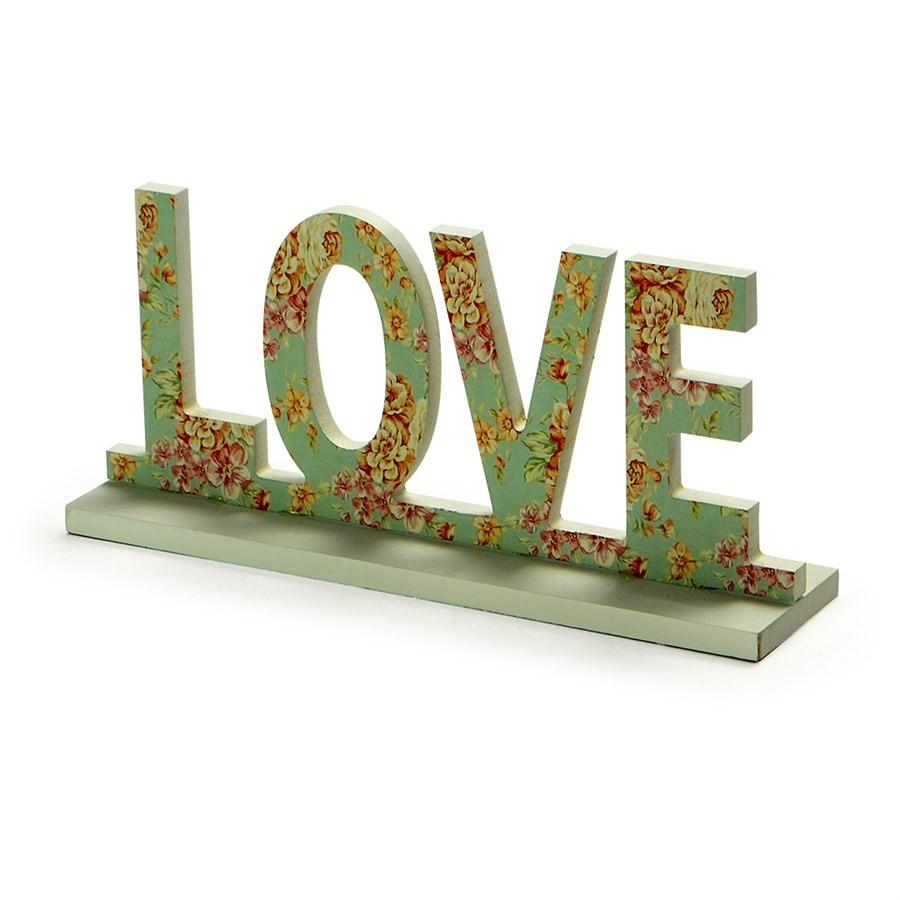 Love Decorativo Flores