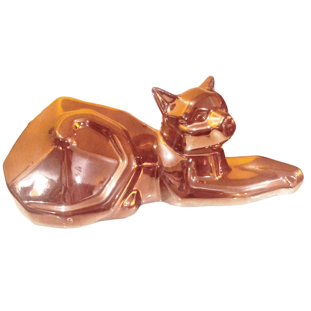 Decor Gato Deitado Rose Gold