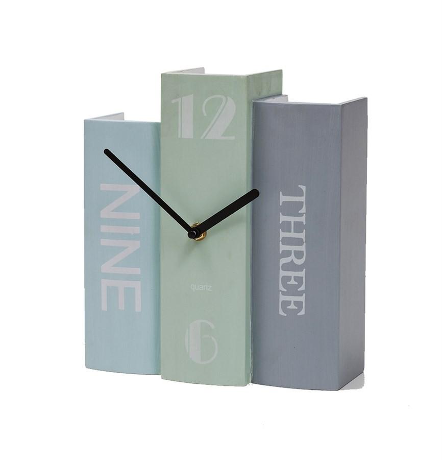 Relógio Pilha de Livros