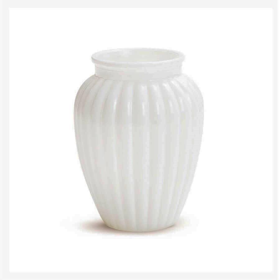 Vaso Oval Branco 10x13,5CM