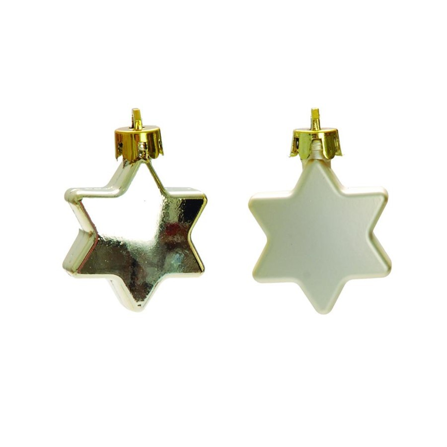 Pendente estrela hexagonais conj. c/ 20