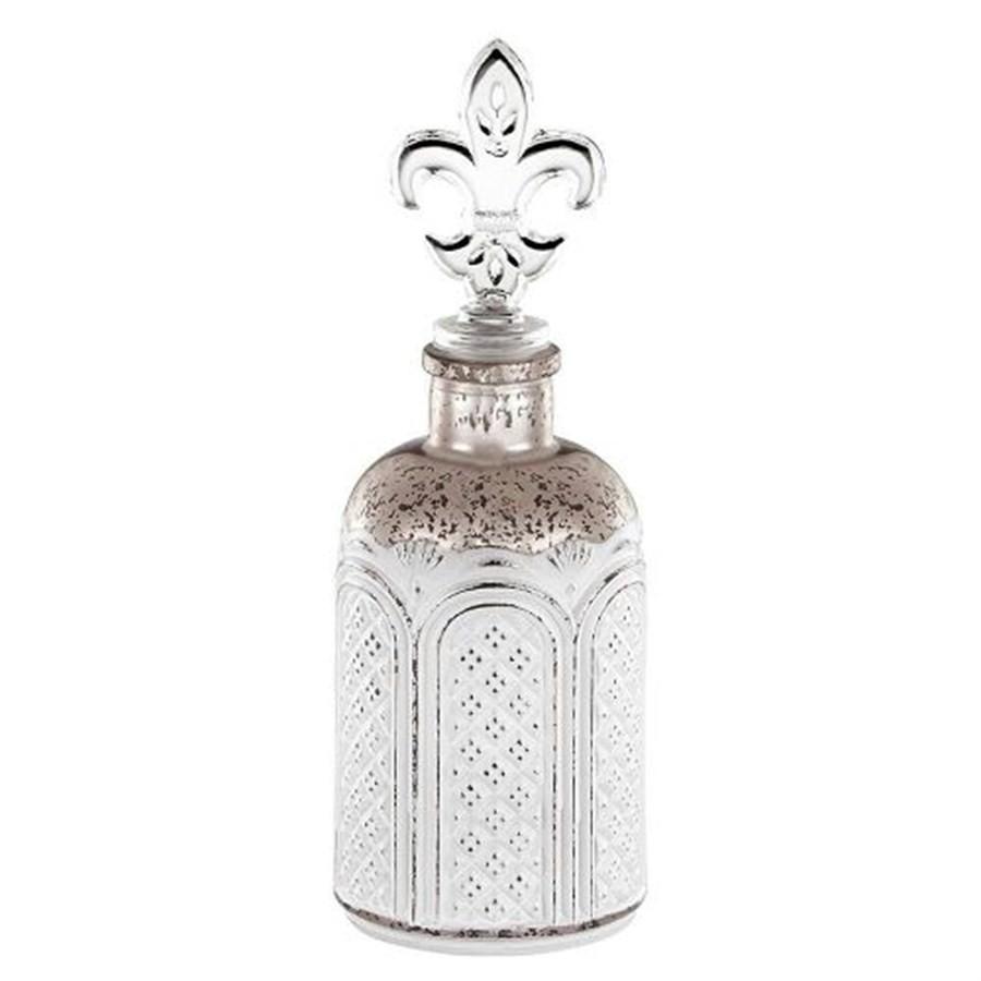 Perfumeiro Vidro Cobre Flor de Liz