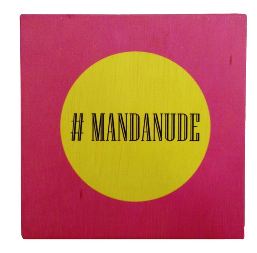 Quadro MDF #MANDANUDE