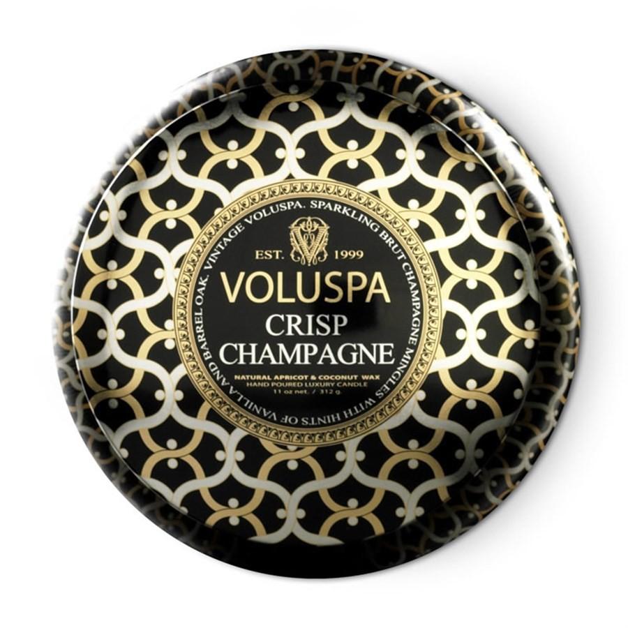 Vela Voluspa Lata 2 Pavios 50 horas Crisp Champagne