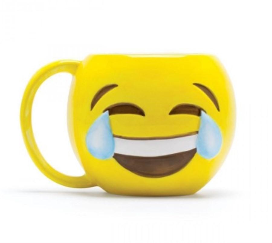 Caneca Emoji Chorando de Rir 500ml