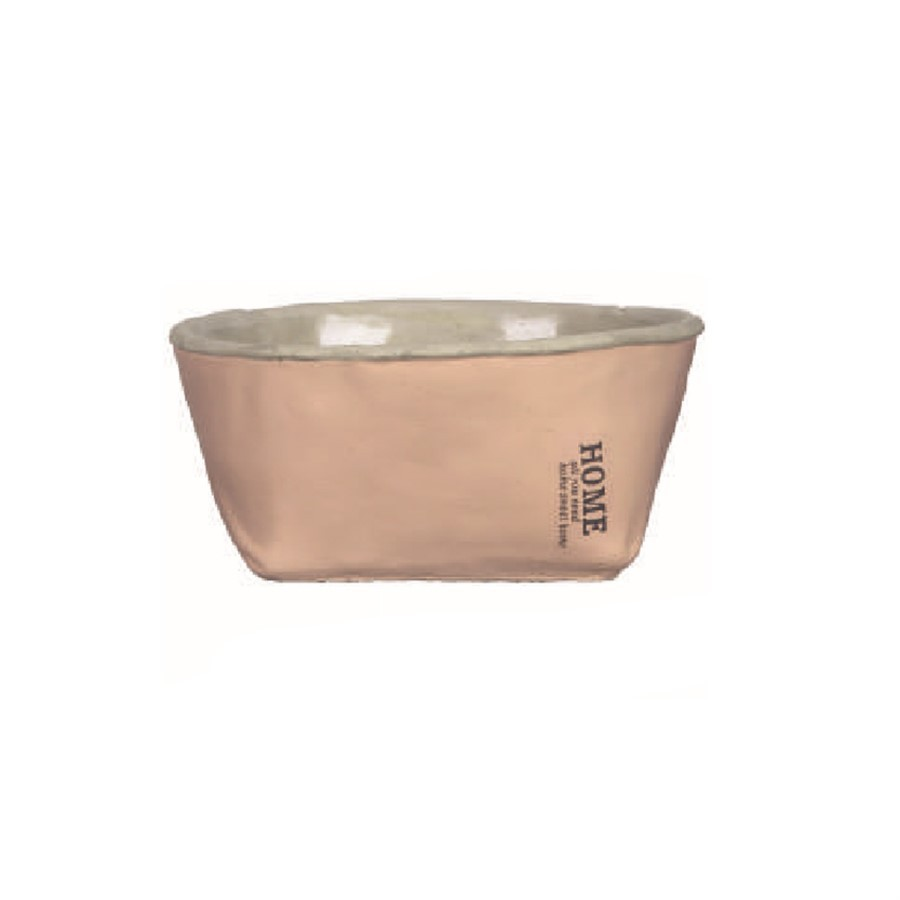 Cachepot Home Oval Rosa