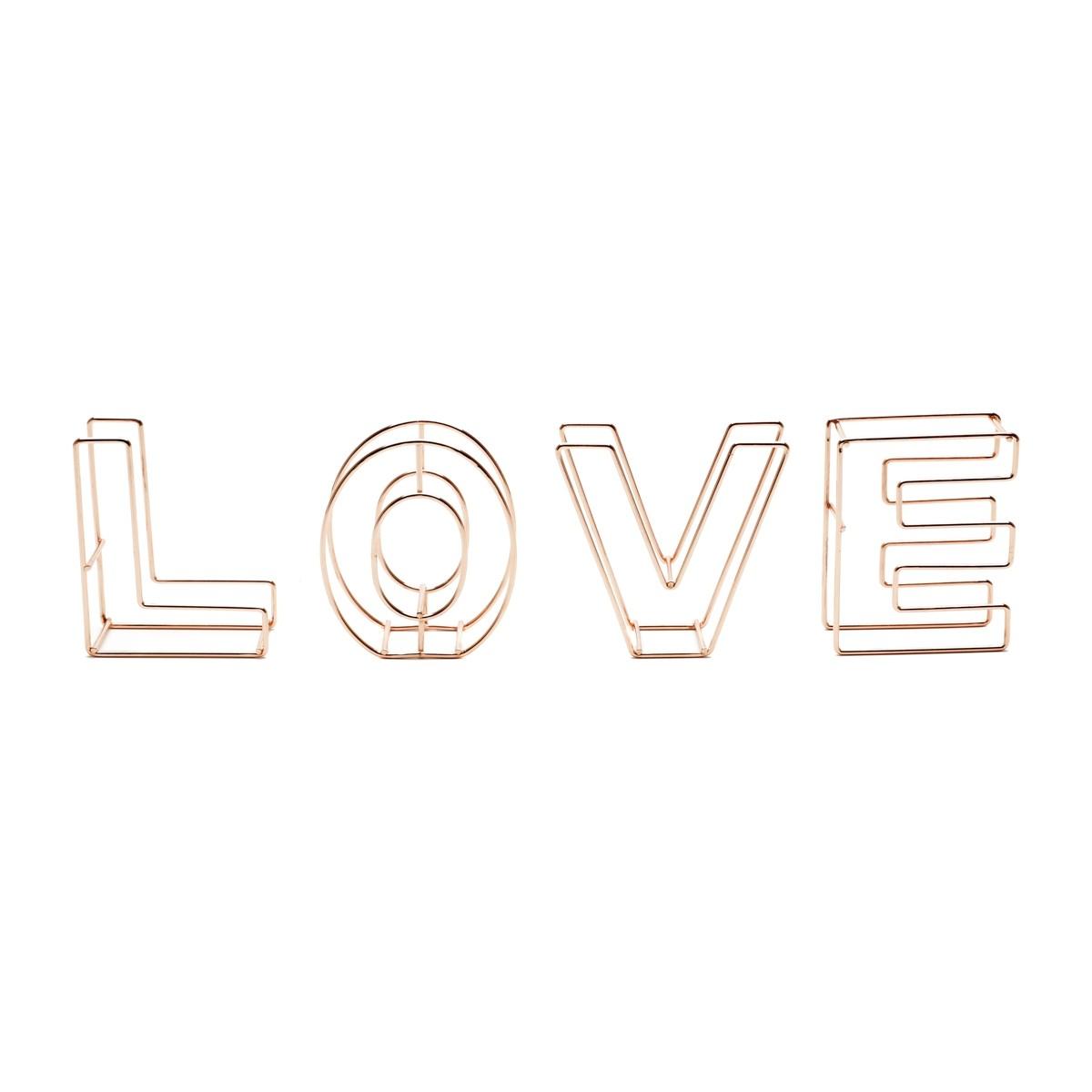 Letreiro Love Cobre 8x9cm