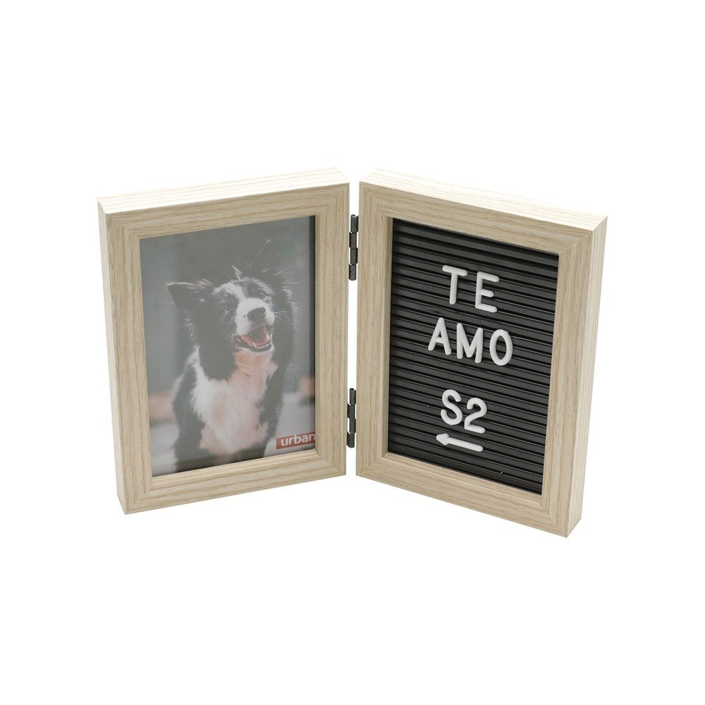 Porta Retrato Message Board C/Letras Prata 10x15cm