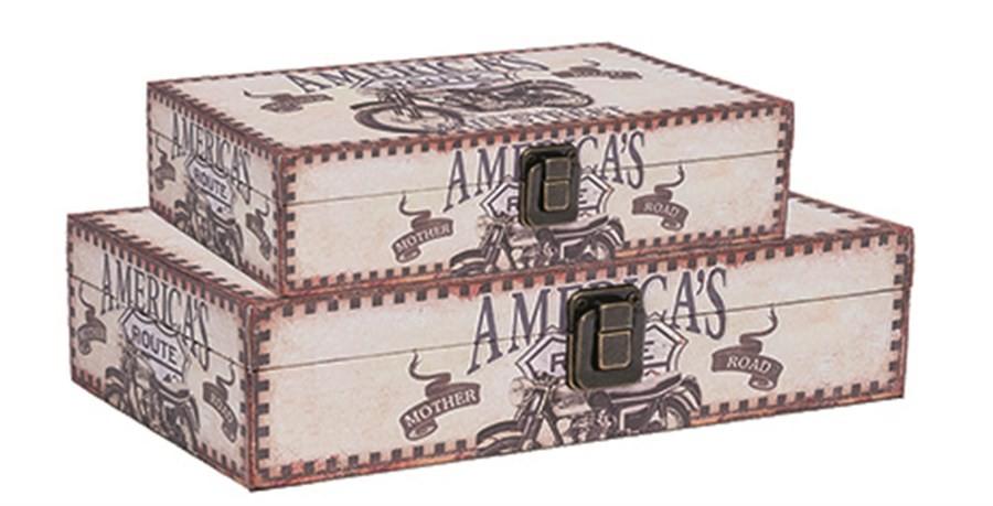 Caixa Baú Estampado America's