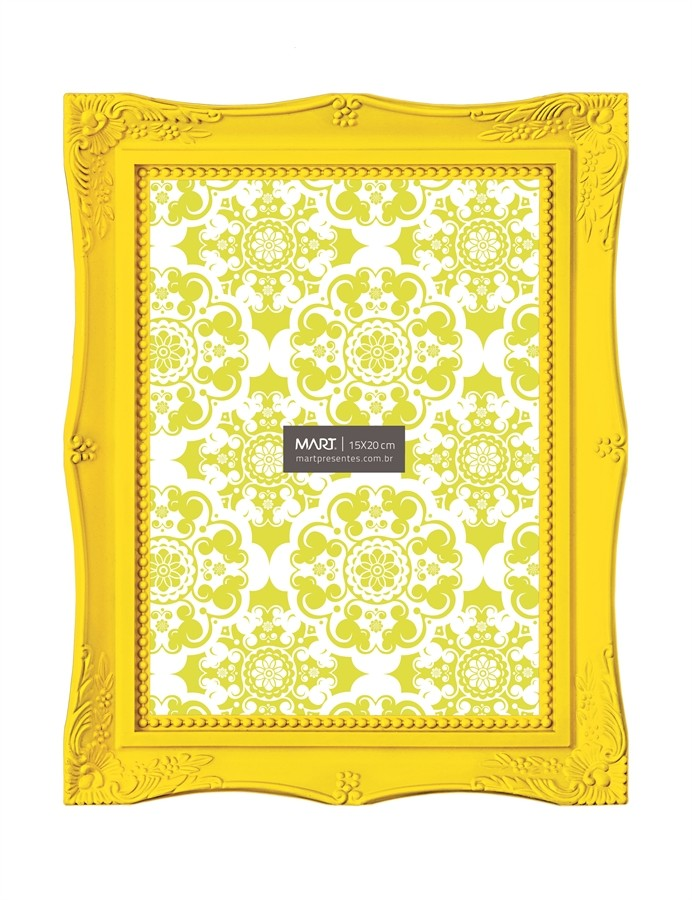 Porta Retrato Amarelo 15x20cm