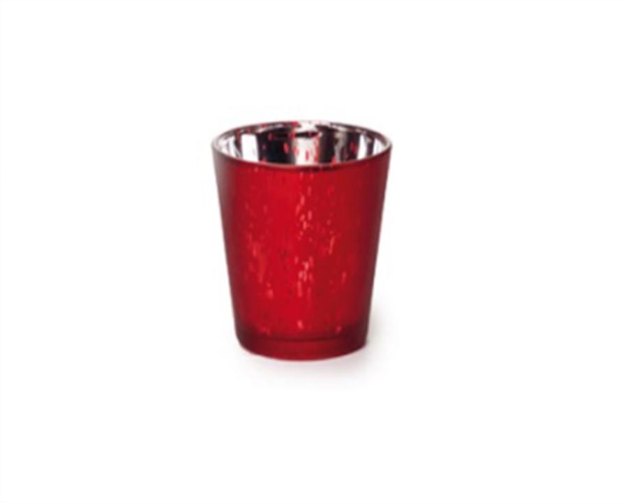 Castiçal Vermelho 8 CM