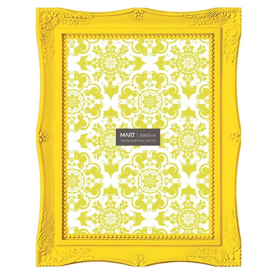 Porta Retrato Amarelo 20x25cm