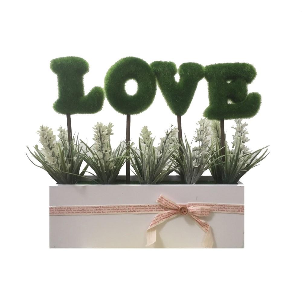 Vaso Love Flores Branca