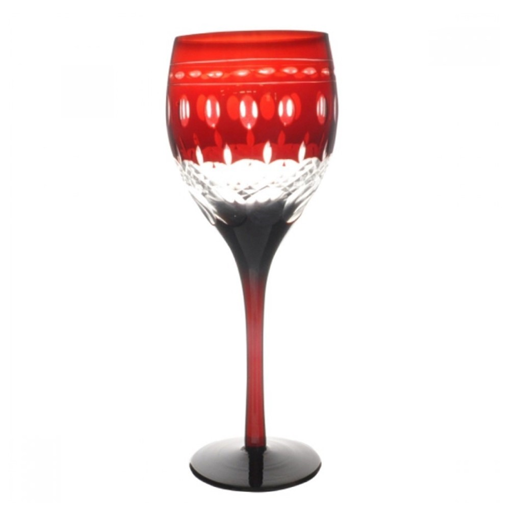 Taça de Cristal Coloridas Para Água - Vermelha