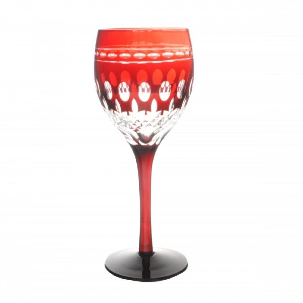 Taça de Cristal Coloridas Para Vinho - Vermelha