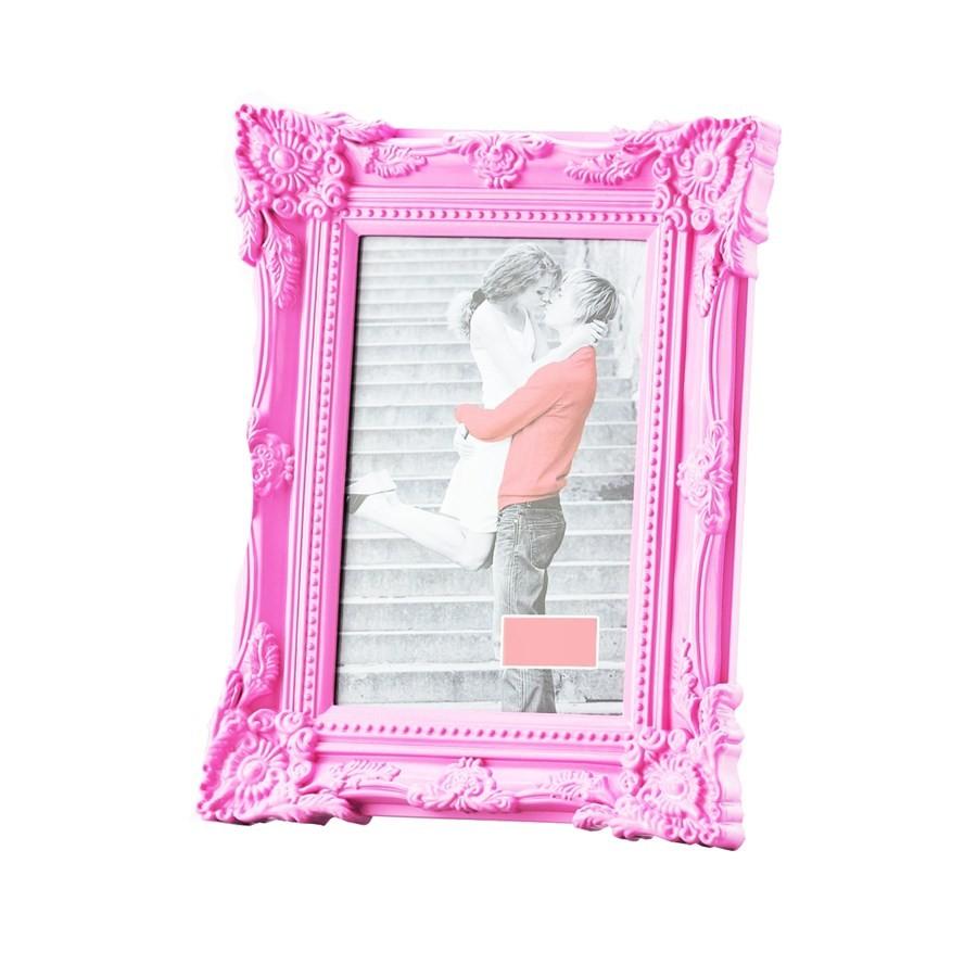 Porta Retrato Retrô Rosa 10x15cm