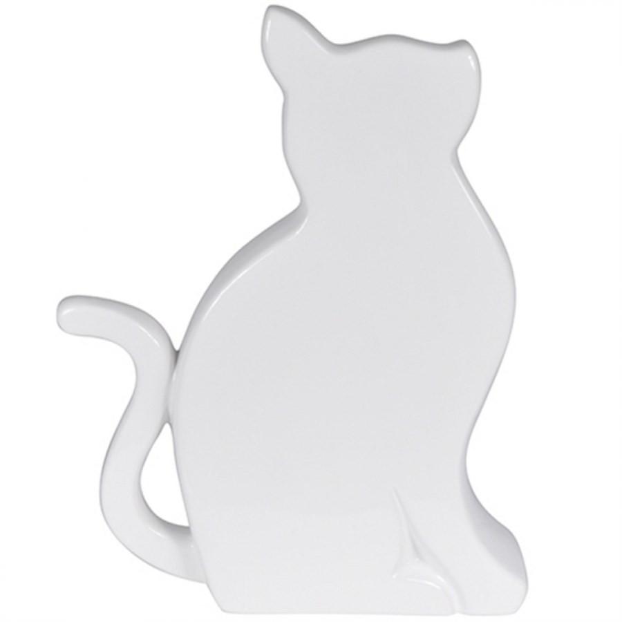 Gato Decorativo Branco 26x20cm