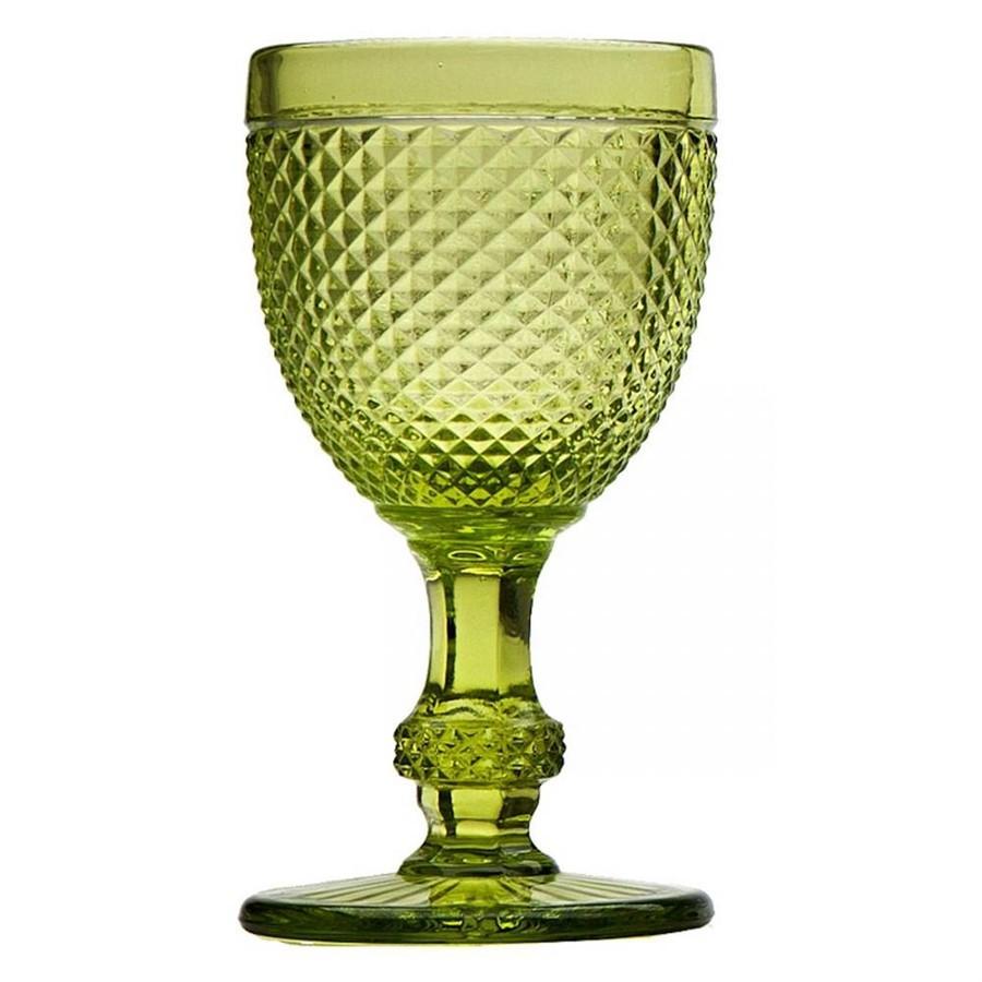 Taças Para Vinho Bico de Jaca Verde