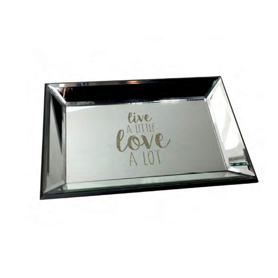 Bandeja Espelhada Glitter Love