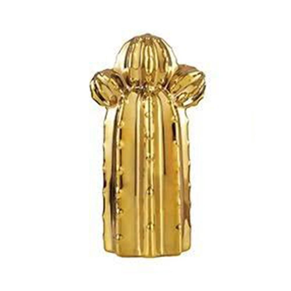 Cacto Cerâmica Dourado