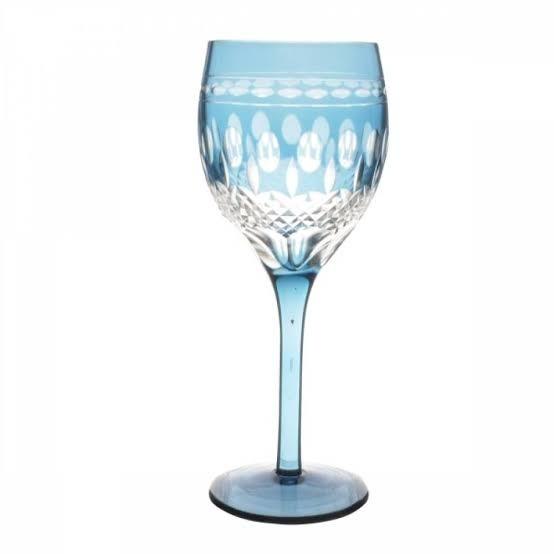 Taça de Cristal Coloridas Para Vinho - Azul