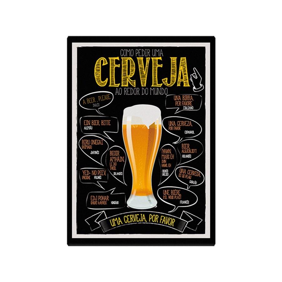 Placa copo cerveja