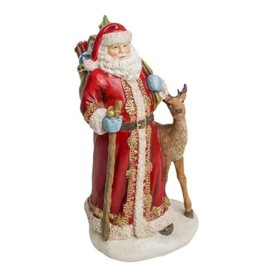 Decor Papai Noel C/Rena 30cm