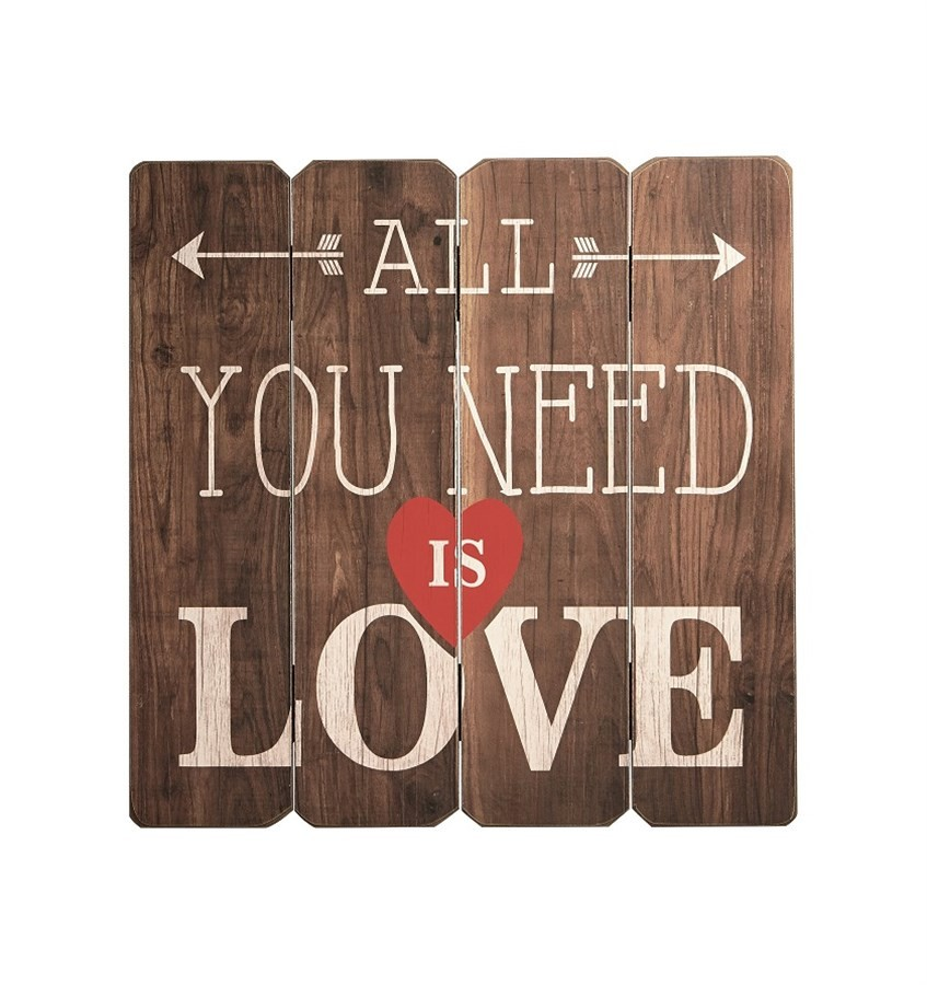 Placa Decorativa All You Need