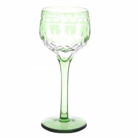 Taça de Cristal Coloridas Para Licor l - Verde