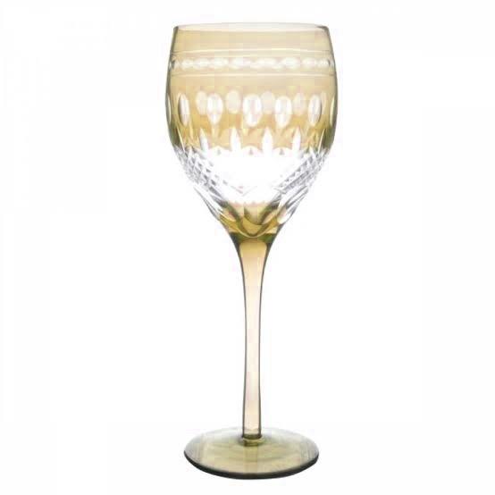 Taça de Cristal Coloridas Para Água - Âmbar