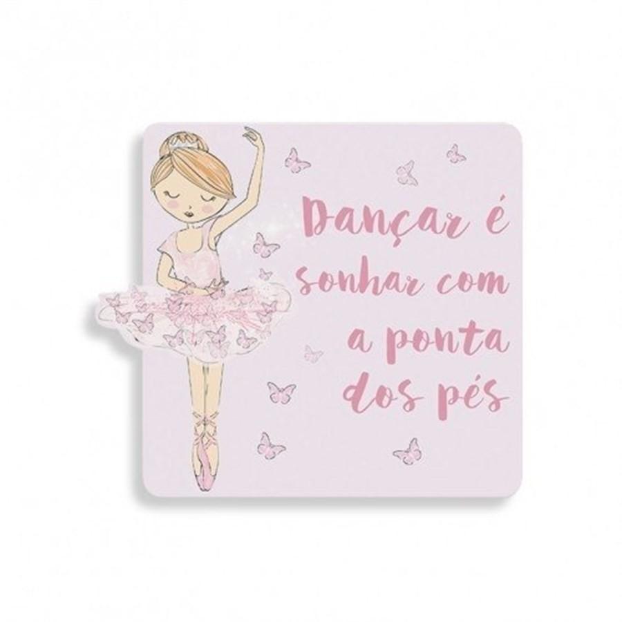 Placa Dançar é Sonhar