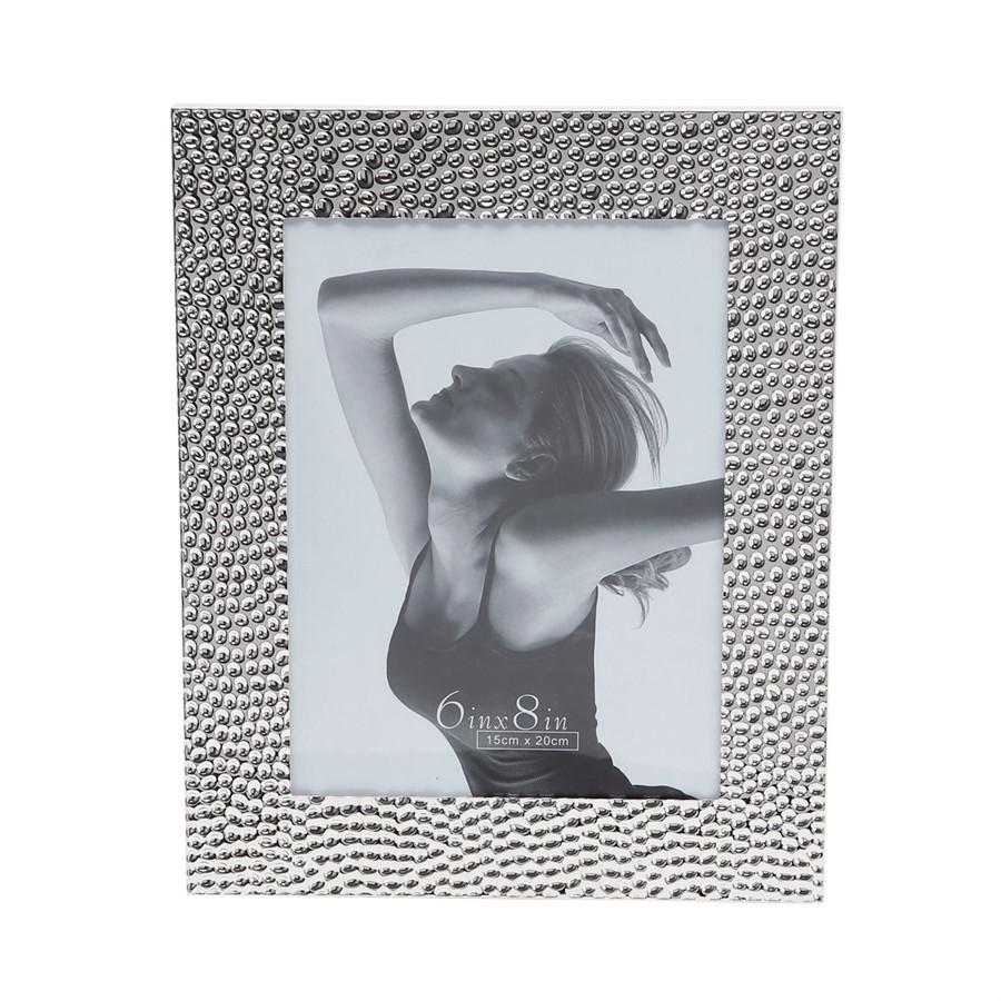 Porta Retrato Martelado Prata 15x20cm