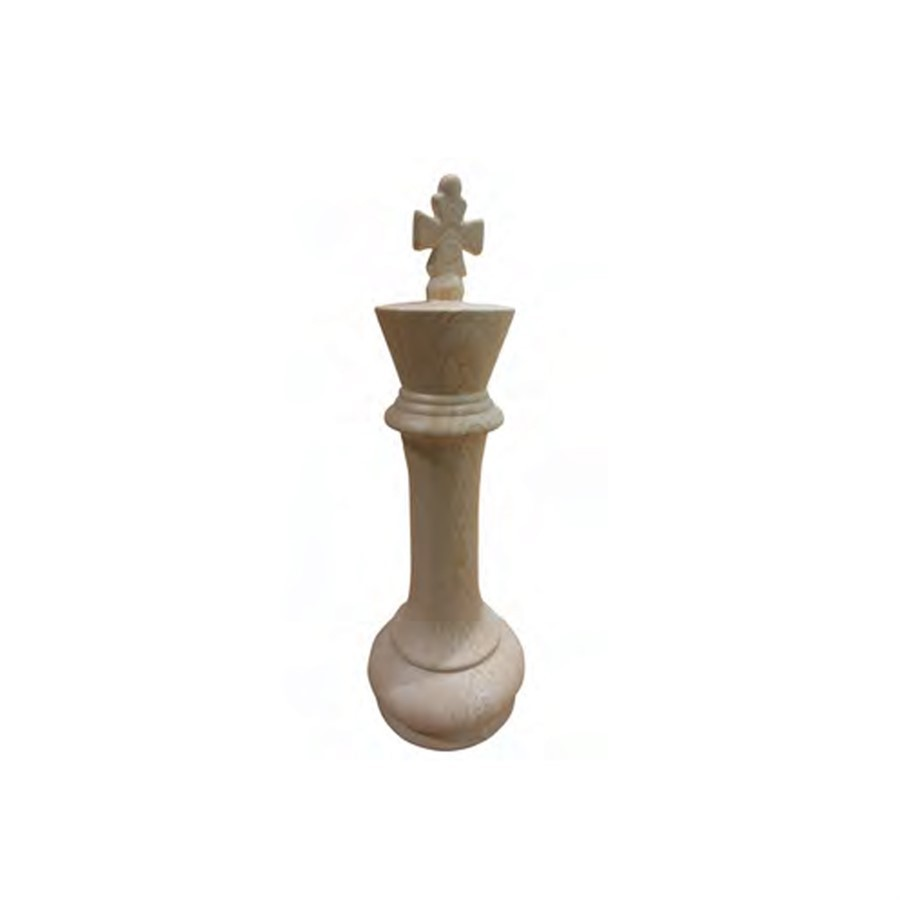 Peça Decorativa Chess King 35x12cm