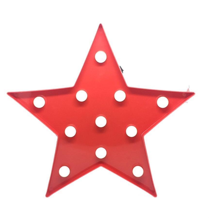 Luminária Estrela Fechada Vermelha