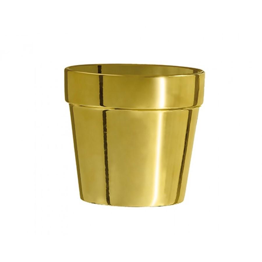Cachepot Dourado Cerâmica 18x19cm