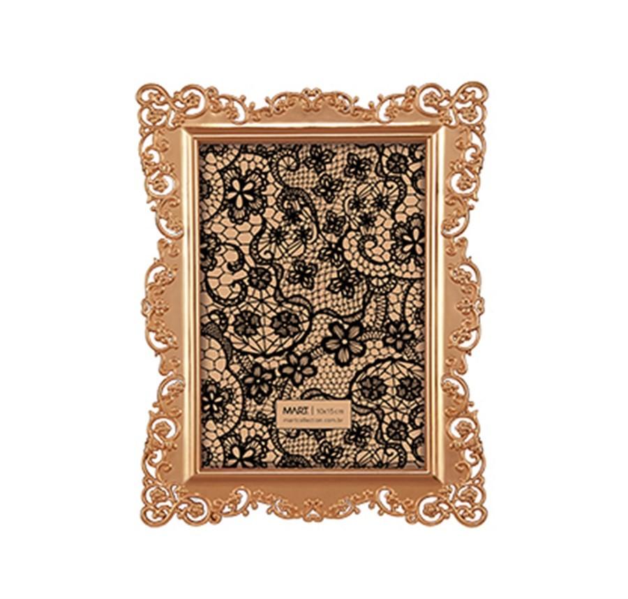 Porta Retrato Renda Cobre 10x15cm