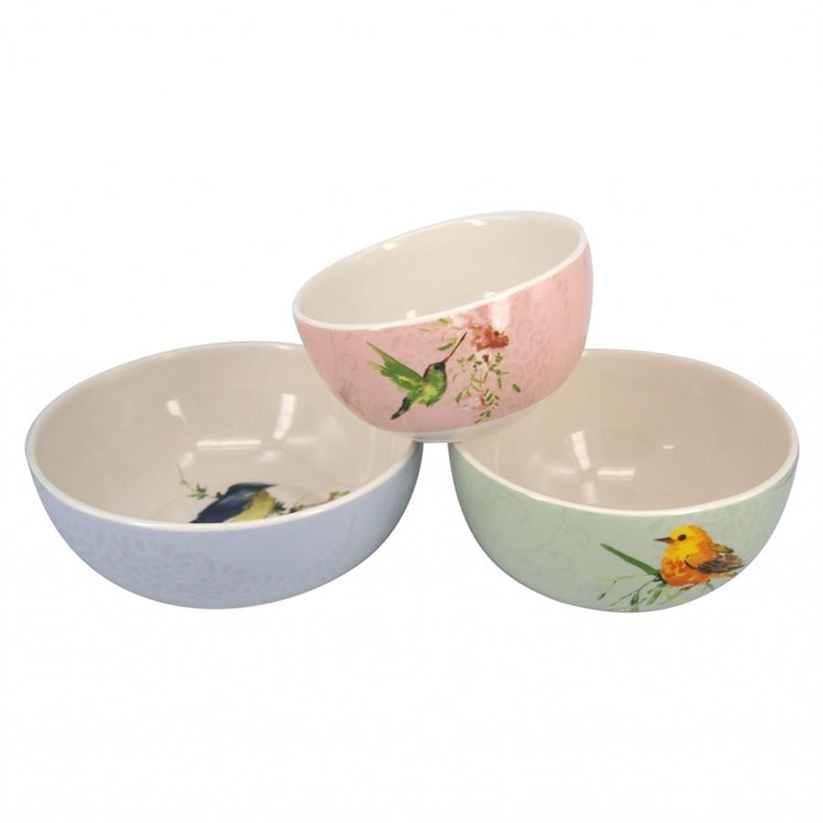 Conj. Bowls de Cerâmica Pássaro