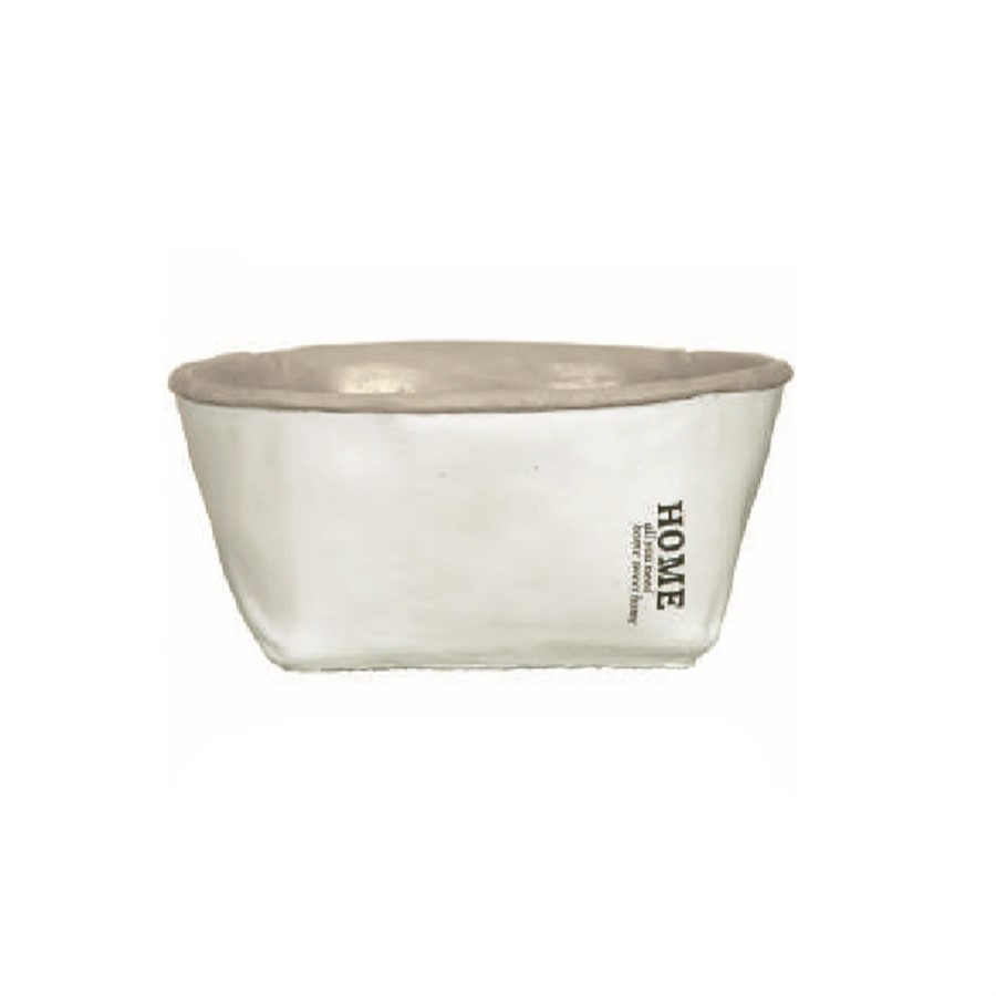 Cachepot Home Branco Oval