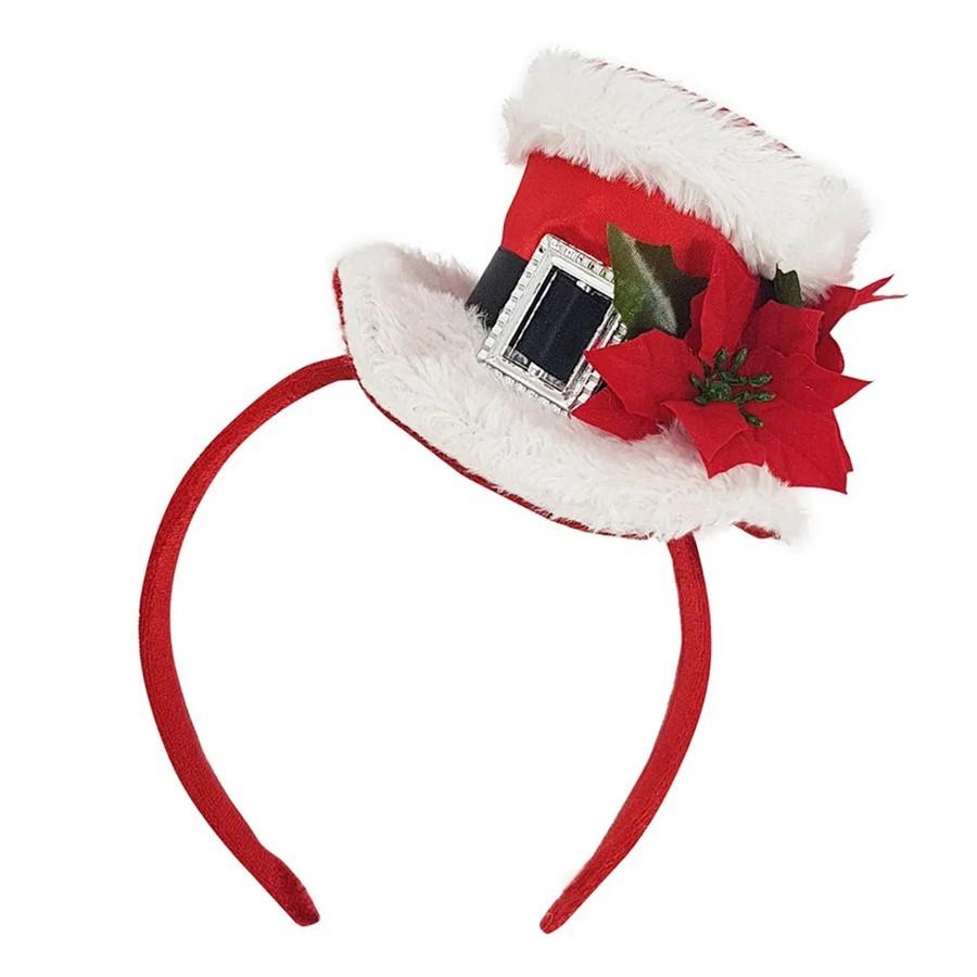 Tiara Decorativa C/Chapéu Vermelho