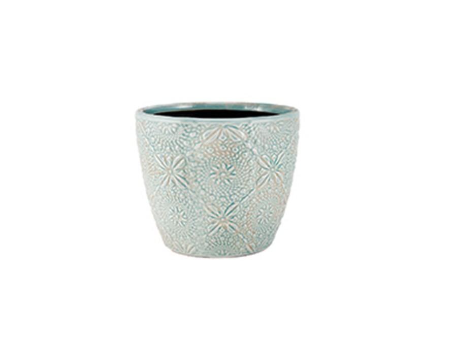 Cachepot Azul em Cerâmica
