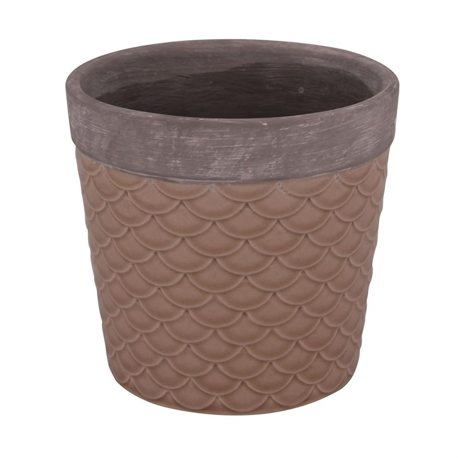 Cachepot de Cerâmica Marrom14CM X 13CM
