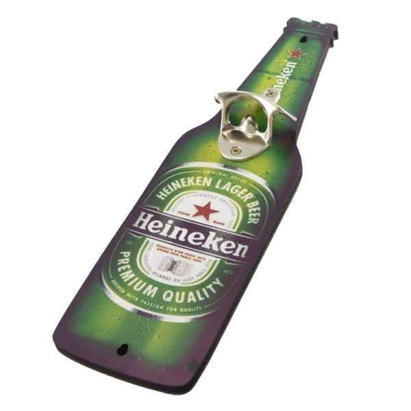 Placa de Parede Abridor de Garrafa Heineken