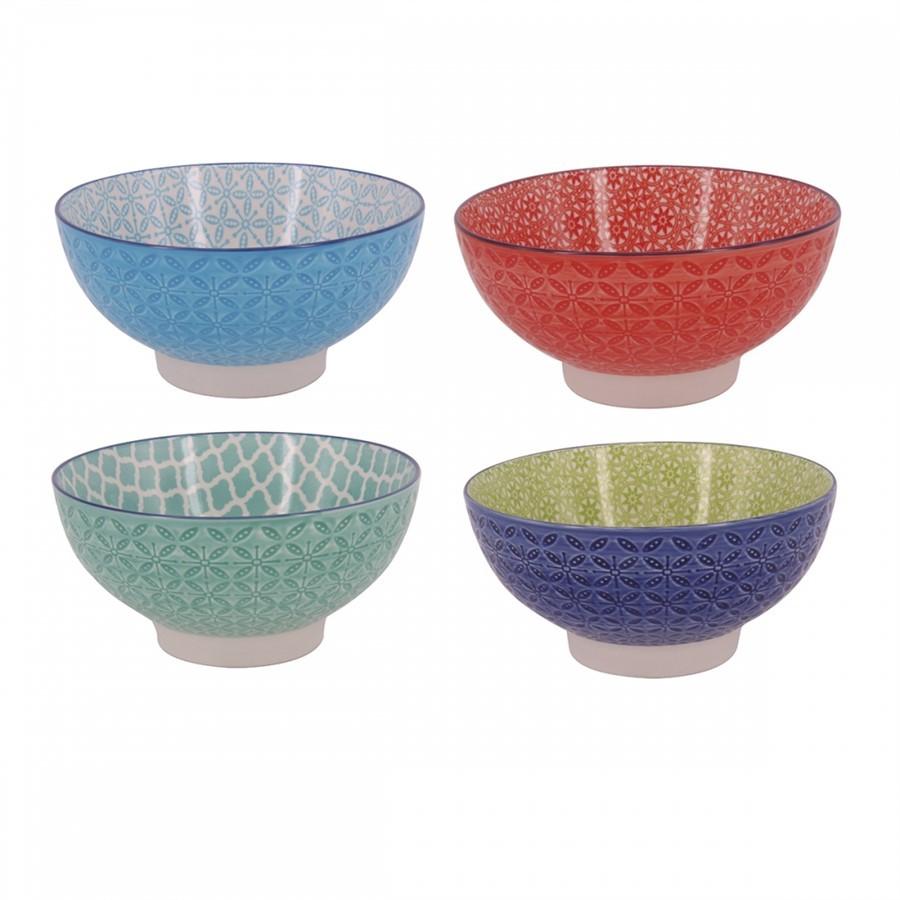 Cj. Bowls Porcelana Colorido 4 Pçs - Grande