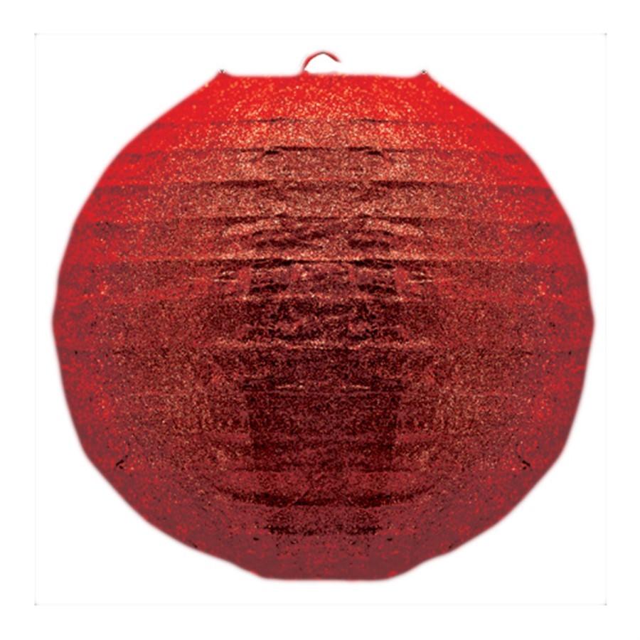 Lanternar Oriental Pendente Vermelha