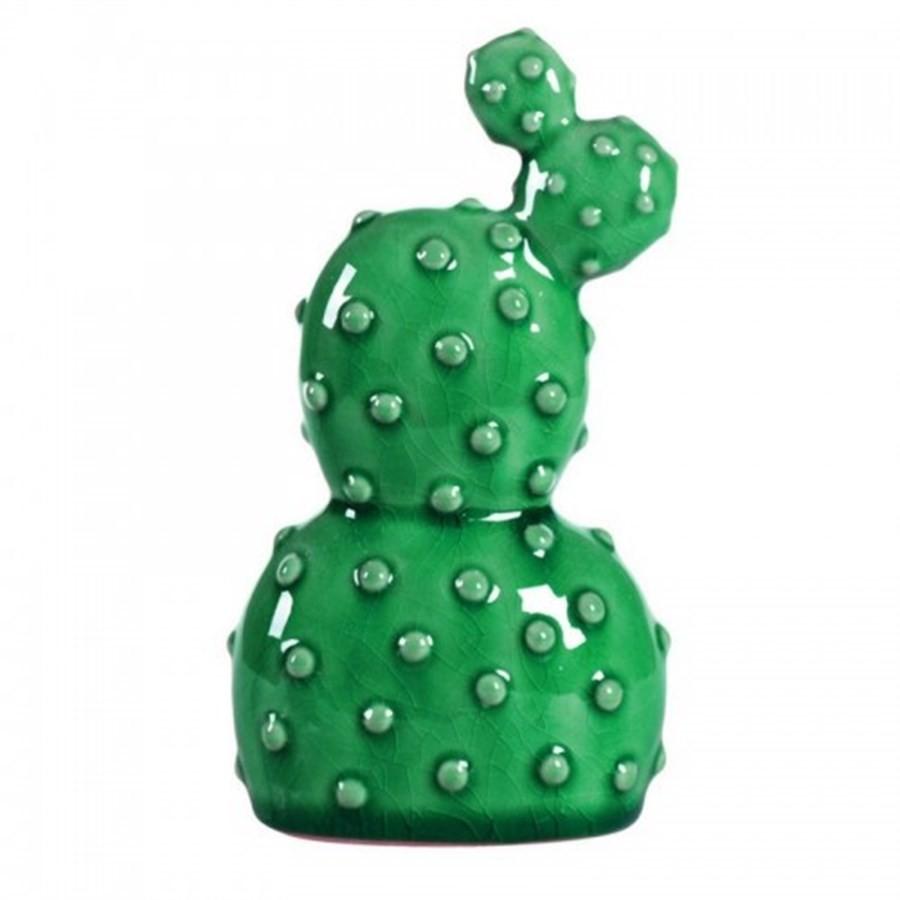 Cacto Ceramica Verde 16,5cm