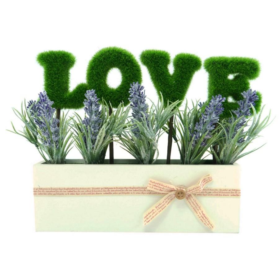 Vaso Love Flores Lavanda