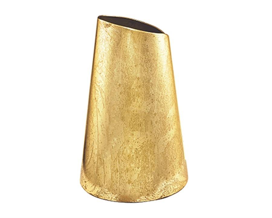 Vaso Dourado Metal 20x14cm